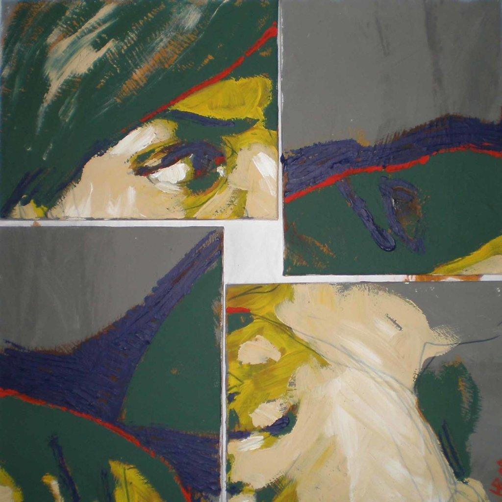 Nevie, či vieš, že viem..., 54x54 cm, 2009