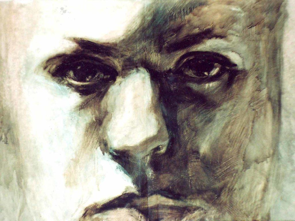 Portret II., 120x100 cm, 2001