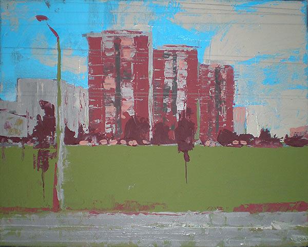 Akryl na plátne - Mestská zóna